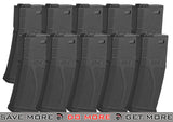 Blue Box Black 140rd Polymer Midcap Magazine for M4 / M16 Series Airsoft AEG Rifles - Set of 10 Airsoft- ModernAirsoft.com
