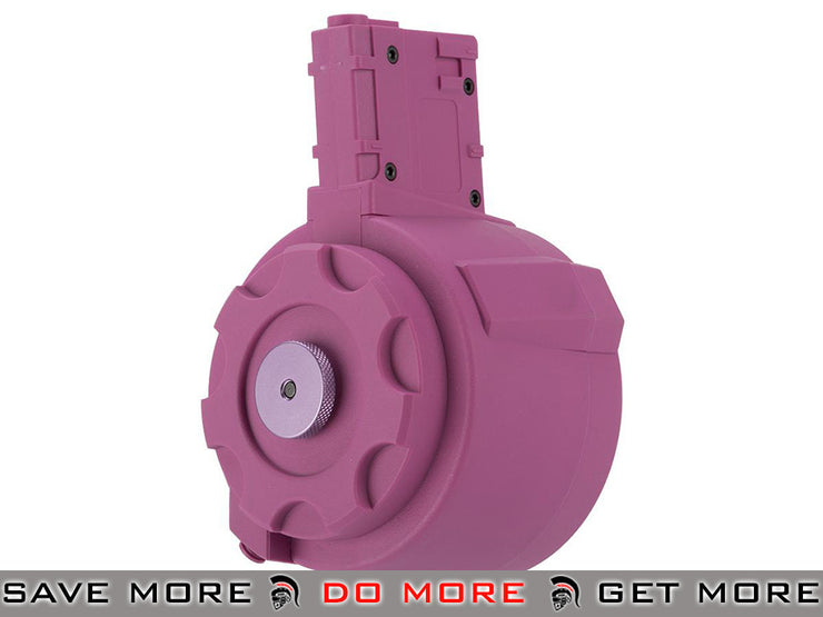 Angel Custom 1500 Round Firestorm Airsoft AEG Drum Flashmag (Pink / M4 Adapter) Electric Gun Magazine- ModernAirsoft.com