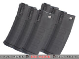 KWA K120 120rd Polymer Midcap Magazine for M4 / M16 Series Airsoft AEG Rifles - Set of 6 Electric Gun Magazine- ModernAirsoft.com