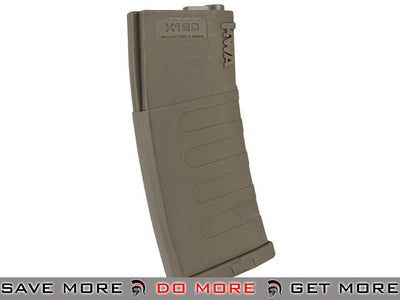 KWA 120rd K120 Polymer Midcap Magazine for M4 / M16 Series Airsoft AEG Rifles - Flat Dark Earth (One) Electric Gun Magazine- ModernAirsoft.com