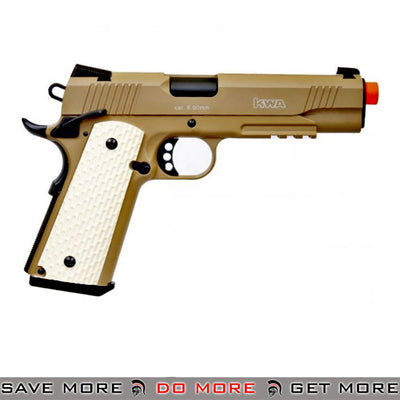 KWA M1911 PTP NS2 MKII Full Metal w/ Railed Frame Airsoft Gas Blowback - Tan