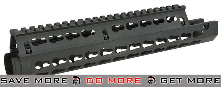 AIM Sports  2 Piece Drop-In Keymod Handguard with Top Rail for FN FAL RIS / RAS / Rails- ModernAirsoft.com