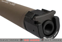 B&T Rotex-IIIA Compact Mock Silencer for M4 Series Airsoft Rifles - Tan Mock Silencer- ModernAirsoft.com