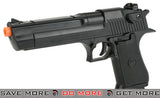 Desert Eagle Licensed Magnum 44 Airsoft Pistol - (Color: Black) Air Spring Pistols- ModernAirsoft.com