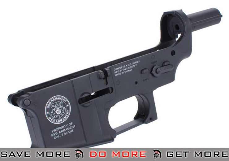 Spare ABS Polymer Lower Receiver for G&G GR16 Blowback AEG - (Black) *Shop by Gun Models- ModernAirsoft.com