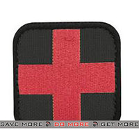 Condor Medic Black & Red 50mm Tactical Hook & Loop Patch Condor- ModernAirsoft.com