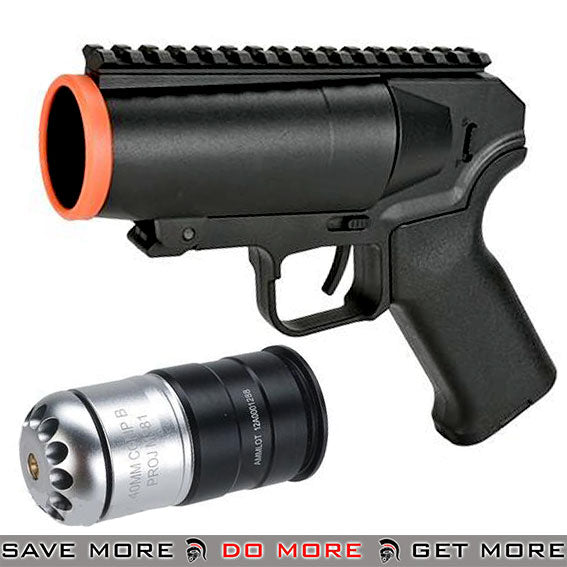 6mmProShop Pocket Cannon Airsoft Grenade Launcher Pistol (Package: Launcher + M433 Shell)