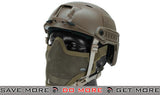 6mmProShop Bump Helmet BJ Type Package with Carbon Gen.1 Strike Mask - Tan