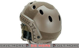 PJ Type Bump Helmet by 6mmProShop Package with Carbon Gen.1 Strike Mask - Tan Head - Helmets- ModernAirsoft.com