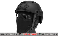 Emerson PJ Type Bump Helmet Package with Black Gen.1 Strike Mask - Black Head - Helmets- ModernAirsoft.com