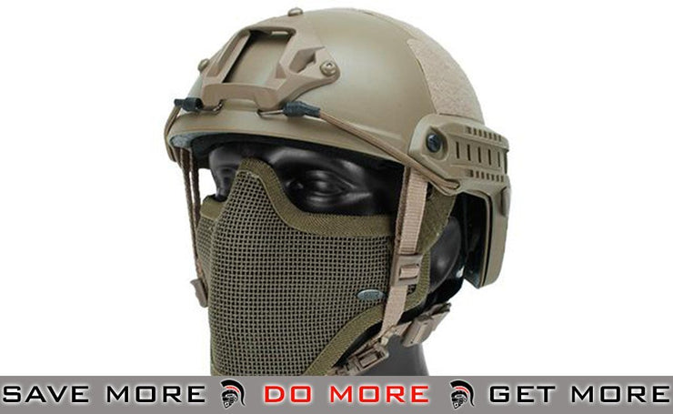 Lancer Tactical Bump Type Helmet (MICH Ballistic Type / Advanced) - Tan - Modern Airsoft