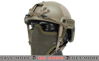 Emerson Bump Type Helmet (MICH Ballistic Type / Advanced) - Tan Airsoft- ModernAirsoft.com