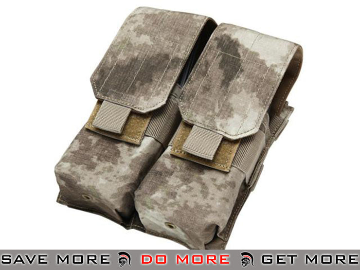 Modular MOLLE Ready Tactical Double M4 M16 Magazine Pouch - (Color: A-TACS) A-TACS Pouches- ModernAirsoft.com