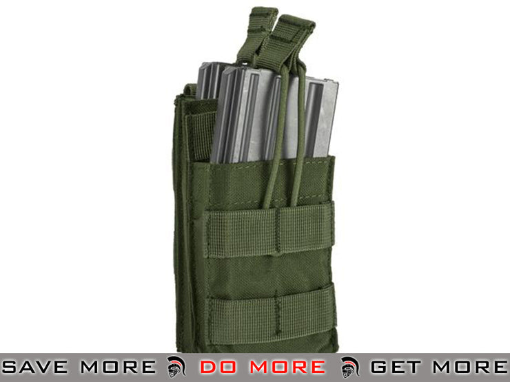 Condor Single M4 / M16 Stacker Open-Top Mag Pouch (OD Green) OD / Green Pouches- ModernAirsoft.com