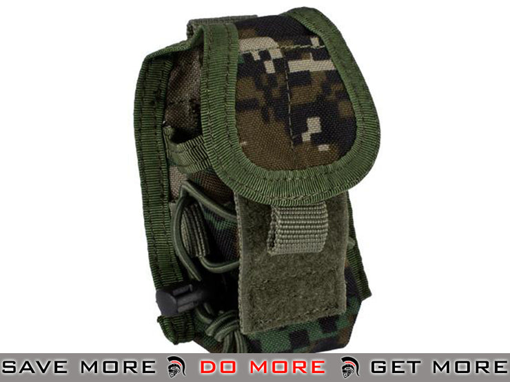 Phantom Multi-Purpose Handheld FRS Radio Pouch (Digital Woodland) Others / Pouch Accessories- ModernAirsoft.com