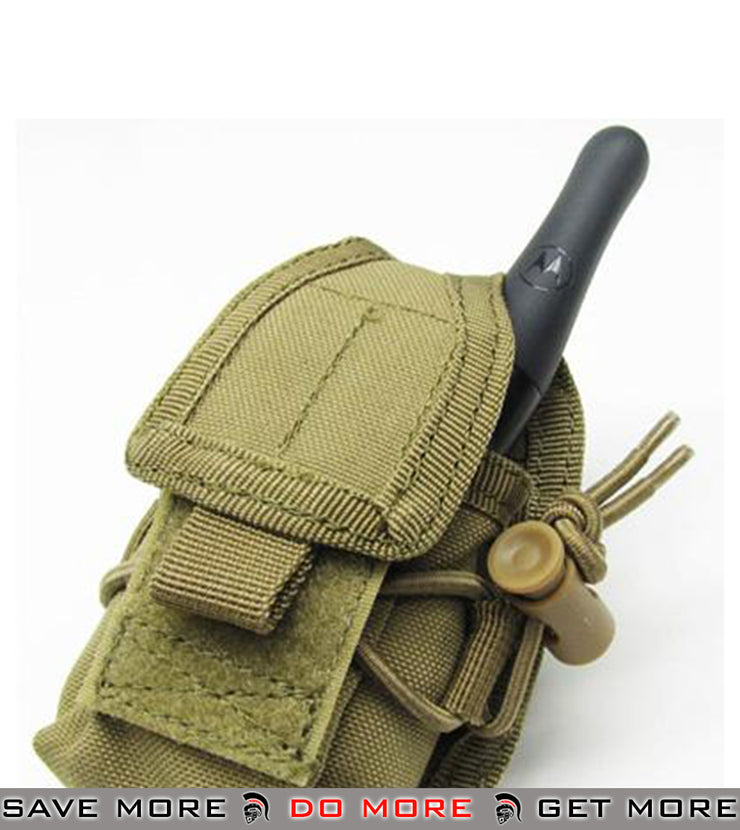 Phantom Multi-Purpose Handheld FRS Radio Pouch (Tan) Others / Pouch Accessories- ModernAirsoft.com