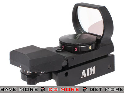 "AIM Sports ""Operator"" Panorama Dual Illuminated Red Dot Scope Red Dot Sights- ModernAirsoft.com"