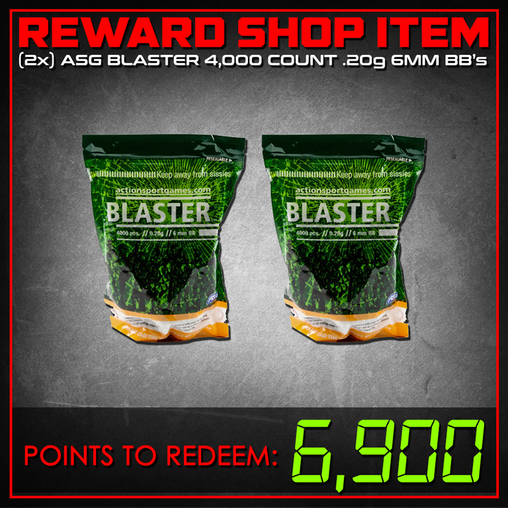 Reward Shop Item - (Two Pack) ASG 0.20g Blaster BBs 4000ct (White)