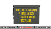Large 5.56mm/4 Ball M855/1 Tracer M855/M27 Link Ammo Can ammo cases- ModernAirsoft.com