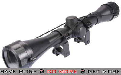 AIM Sports Fixed Power 4x40 Rifle Scope with Rings Scopes- ModernAirsoft.com