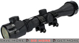 AIM Sports Rubber Armored Illuminated Scope w/ Scope Rings (3-9x40) Illuminated Scopes- ModernAirsoft.com