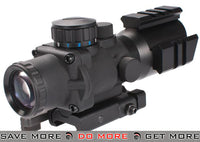 AIM 4x32 Tri-Illuminated  Arrow Reticle Scope with Tri-Rail and Quick Release Mount Scopes- ModernAirsoft.com