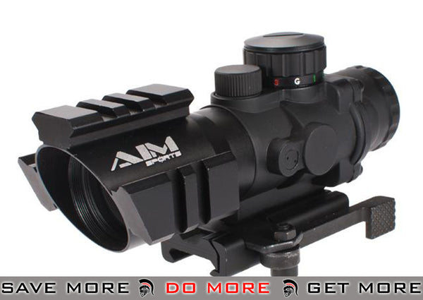 AIM 4x32 Tri-Illuminated  Arrow Reticle Scope with Tri-Rail and Quick Release Mount