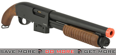 A&K Full Metal M870 Pistol Grip Type Airsoft Training Shotgun (Imitation Wood) Airsoft Shotguns- ModernAirsoft.com