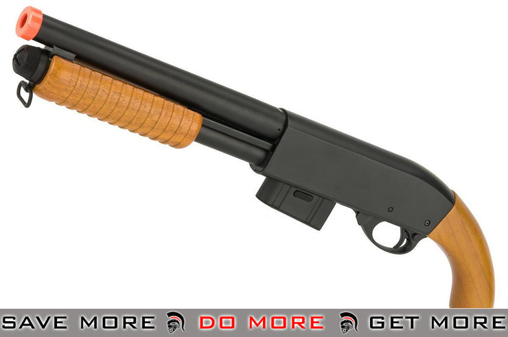 A&K M870 Short Type Full Metal 400 FPS Airsoft Training Shotgun w/ Real Wood Airsoft Shotguns- ModernAirsoft.com