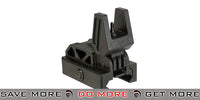 Valken Airsoft Polymer Folding Flip Up Back-Up Sight BUIS - Black iron sights- ModernAirsoft.com