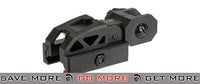 Valken Airsoft Polymer Folding Rear Back-Up Sight - Black iron sights- ModernAirsoft.com