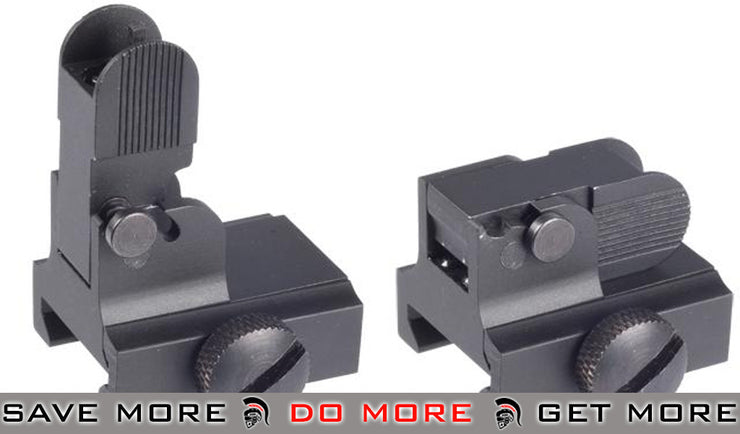 AIM Sports M4 / M16 / AR15 Real Steel Flip-up Front Sight iron sights- ModernAirsoft.com