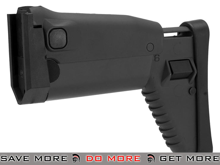 Black Side Folding Retractable Stock for SCAR series Airsoft AEG Stocks- ModernAirsoft.com