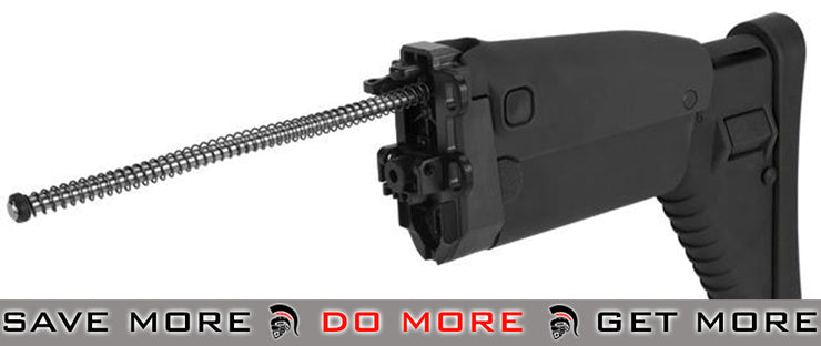 G&G Replacement Folding Stock for SCAR Series Airsoft AEG Rifles - Black Stocks- ModernAirsoft.com