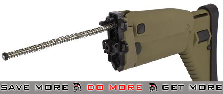 G&G Replacement Folding Stock for SCAR Series Airsoft AEG Rifles - Tan Stocks- ModernAirsoft.com