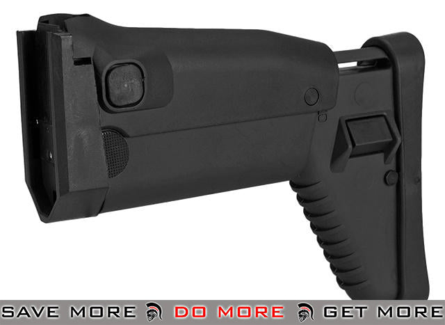 Side Folding Retractable Stock for SCAR-H (Dboy Echo1 Classic Army FN) Series AEG Airsoft Rifle - Black Stocks- ModernAirsoft.com