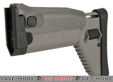 Side Folding Retractable Stock for SCAR-H (Dboy Echo1 Classic Army FN) Series AEG Airsoft Rifle - Desert Stocks- ModernAirsoft.com