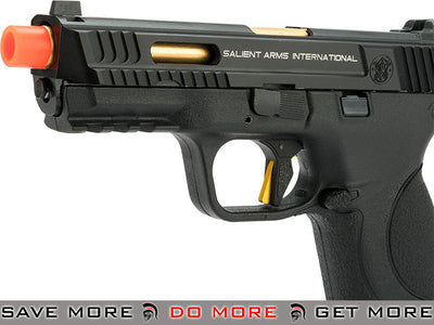 EMG / SAI / Smith & Wesson Licensed M&P 9 Full Size Airsoft GBB Pistol w/ Enhanced Angel Custom Trigger GP-SAI-MP9F-AC-BK - Black Gas Blowback Pistol- ModernAirsoft.com