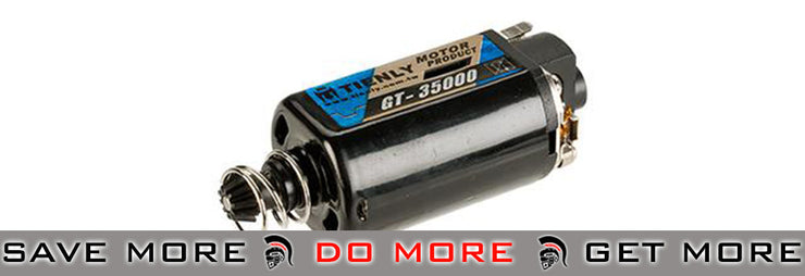 Infinity GT High Torque, Standard Speed Performance 35,000 RPM Motor by 6mmProShop - Long Motors- ModernAirsoft.com