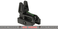 Valken Airsoft Polymer Flip-up Front Back-Up Sight with Fiber Optic Insert - Black iron sights- ModernAirsoft.com