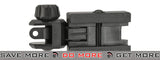 Valken Airsoft Polymer Flip-up Rear Back-Up Sight with Fiber Optic Insert - Black iron sights- ModernAirsoft.com