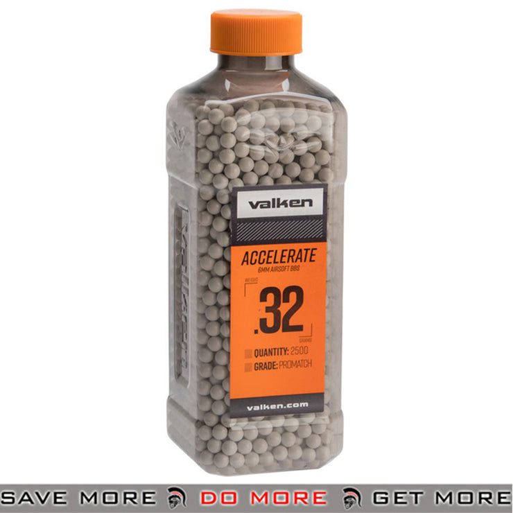Valken Tactical Precision 6mm Airsoft BBs - 0.32g White (2500)