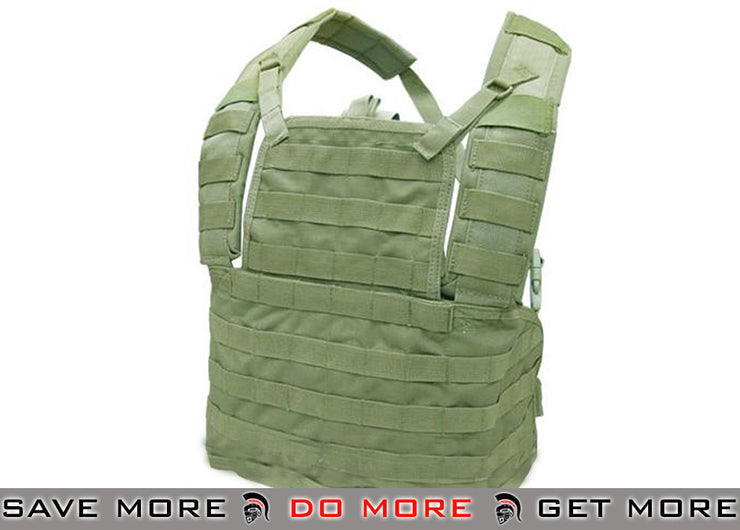 Condor OD Green Tactical Modular Chest Rig Type I MCR1 Chest Rigs & Harnesses- ModernAirsoft.com