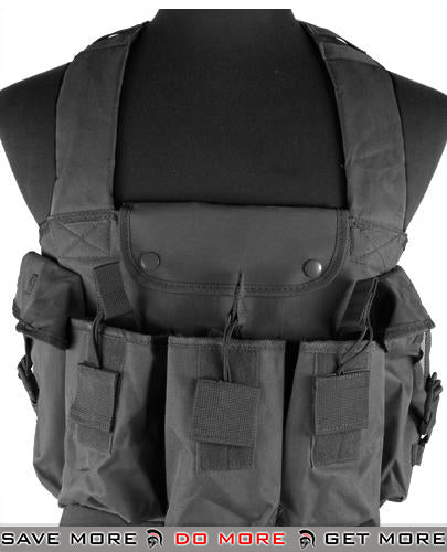 NcStar Tactical Vest 6 Pouch AK Chest Rig  (Black)