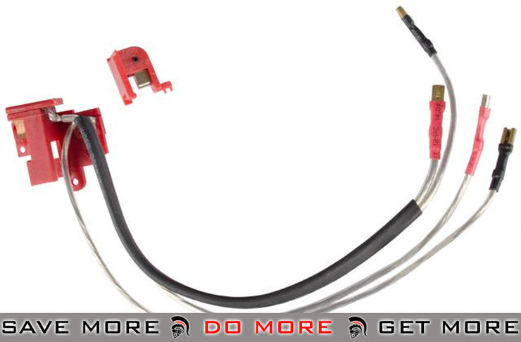 AIM Silver Plated Front Wiring Harness for M4 M16 Series Airsoft AEG (Front Wired) Wiring & Mosfets- ModernAirsoft.com