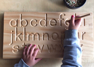English Alphabet Tracing Board