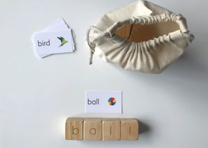 English Alphabet spelling set with sight cards