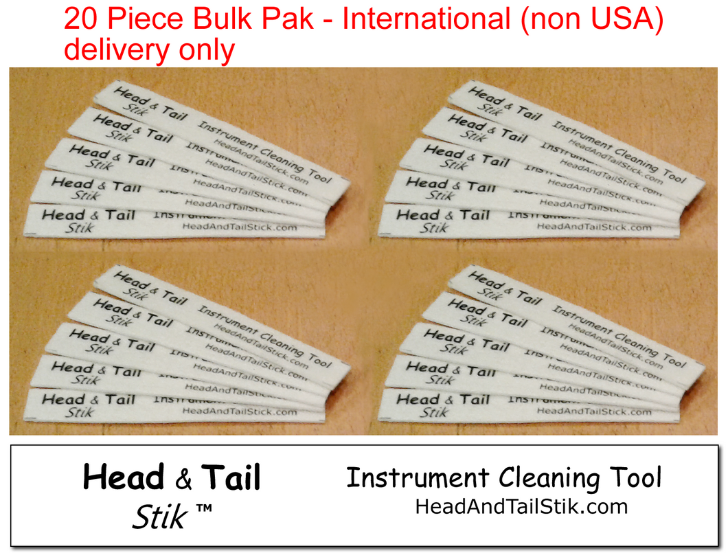 Head and Tail Stiks - BULK 20 Pieces - for Intenational (non USA) delivery only
