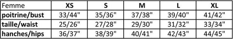 Women Sizing Chart - MARIGOLD apparel