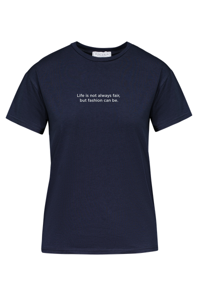 T-SHIRT IMPRIMÉ NAVY - MODE DURABLE